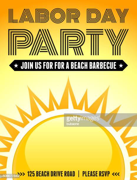 Sunny Labor Day-Party Banner