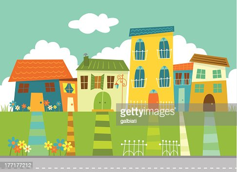 Sunny neighborhood : Arte vetorial