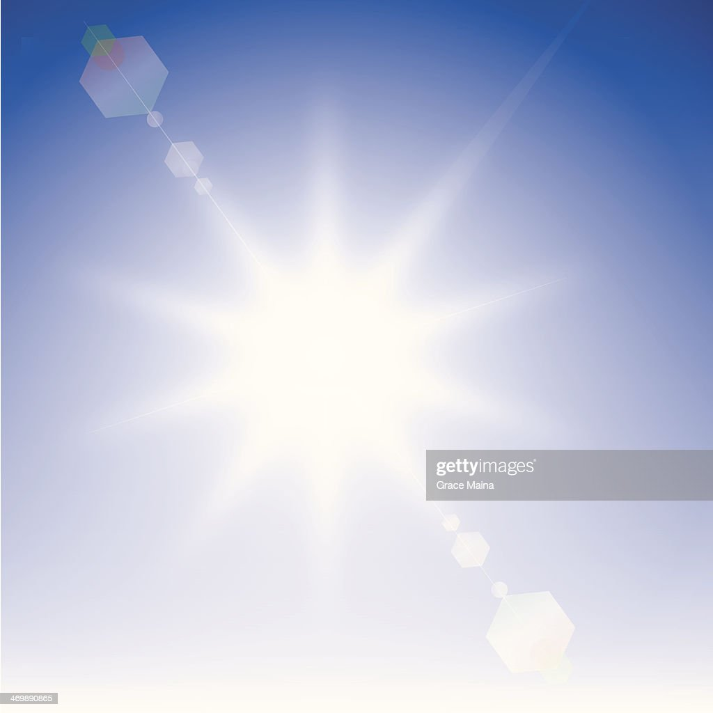 Sunny sky : Vector Art