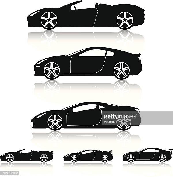 Super Cars Silhouettes