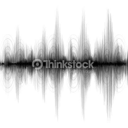 Supererdbebenwelle Auf Weißem Papierhintergrund Audio ...