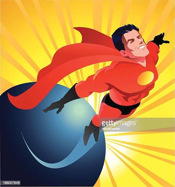 illustrations et dessins anim s de superman super h ros getty images. Black Bedroom Furniture Sets. Home Design Ideas