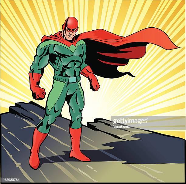 Super eroe pronto per l'azione