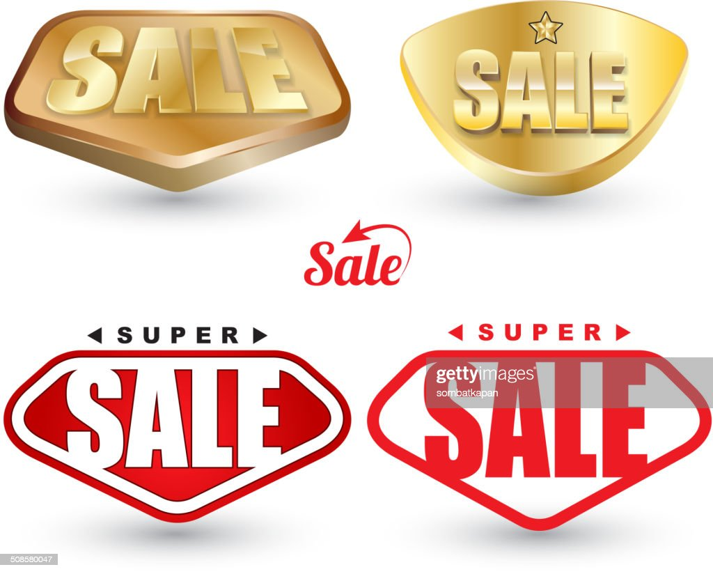 Super vente tag ensemble. : Clipart vectoriel