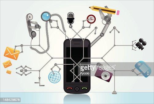Super smart phone : Vector Art