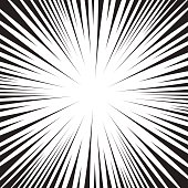 Super speed oncoming comic line vector black and white background.