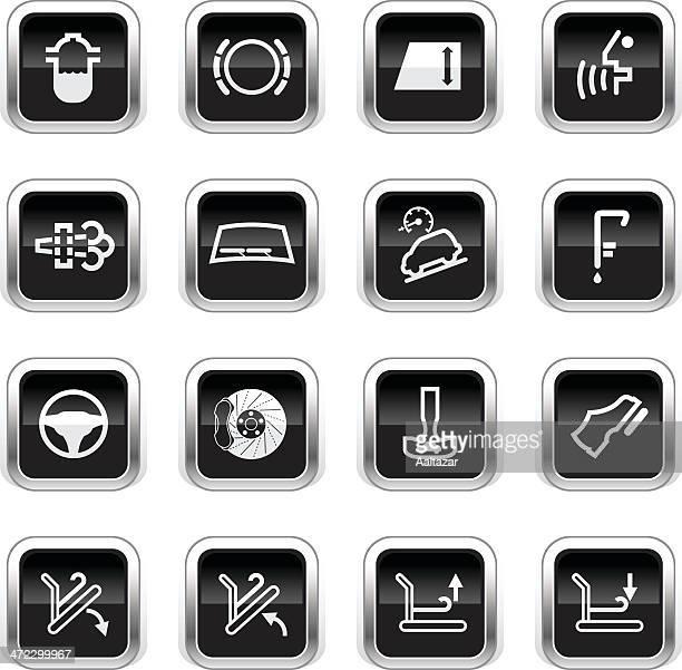 Supergloss Black Icons - Car Control Indicators