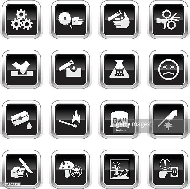 Supergloss Black Icons - Caution