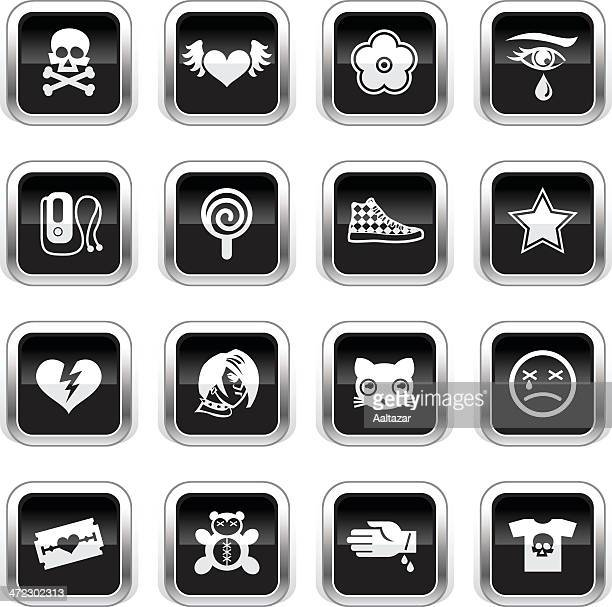 Iconos-Emo Supergloss negro