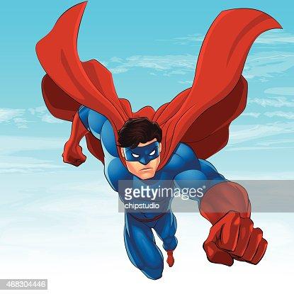 Superhero Flying Vector Art | Getty Images Superhero Flying Vector