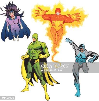 SuperHeroes Pack : Vector Art
