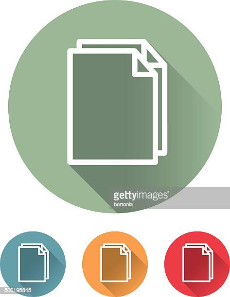 Superlight Flat Design Interface Documents Icon