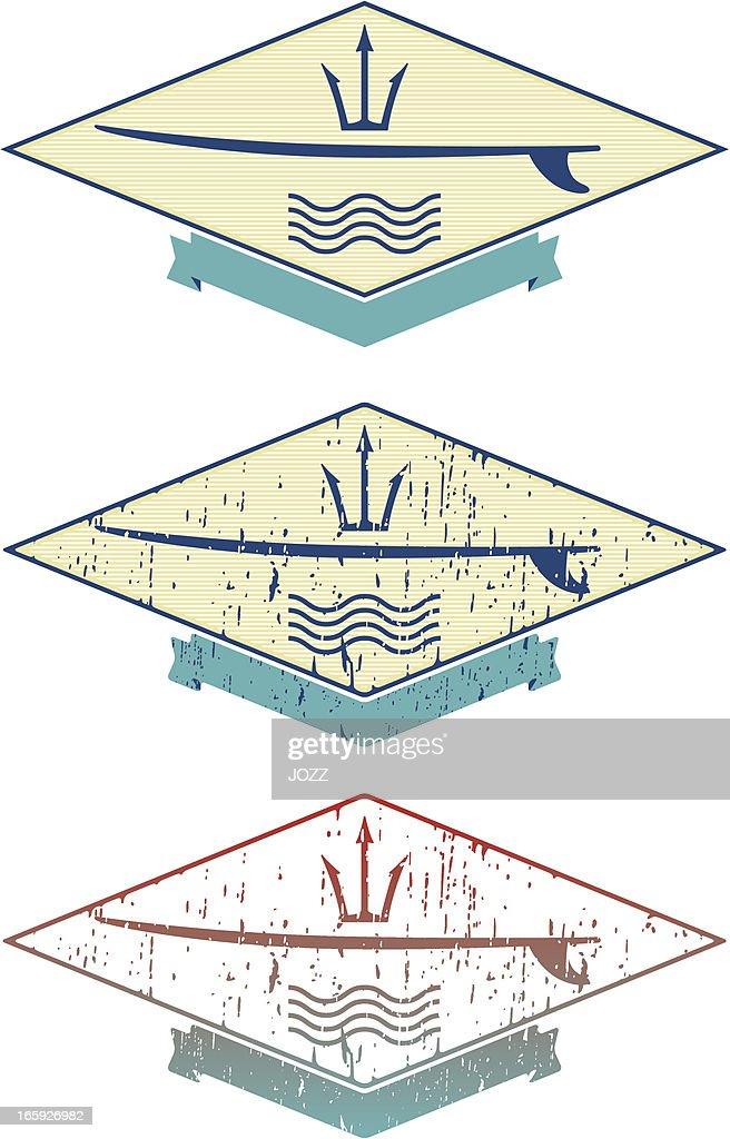 surf emblem : Vector Art