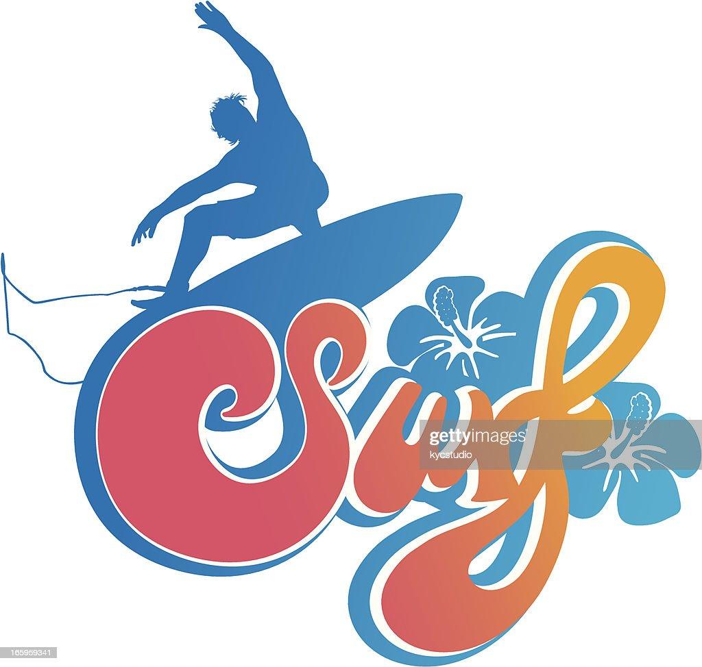 Surf type emblem : Vector Art