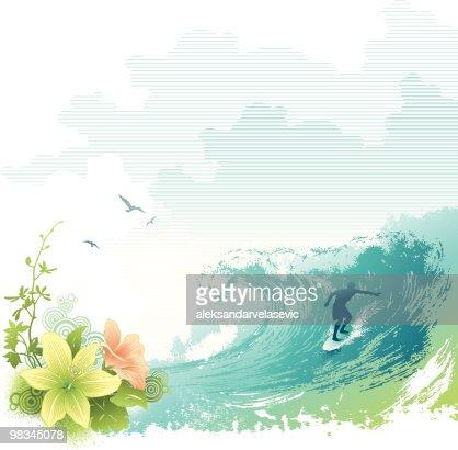 Surfer : Vector Art