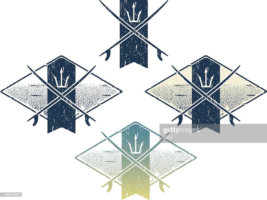 surfing logo : Vector Art
