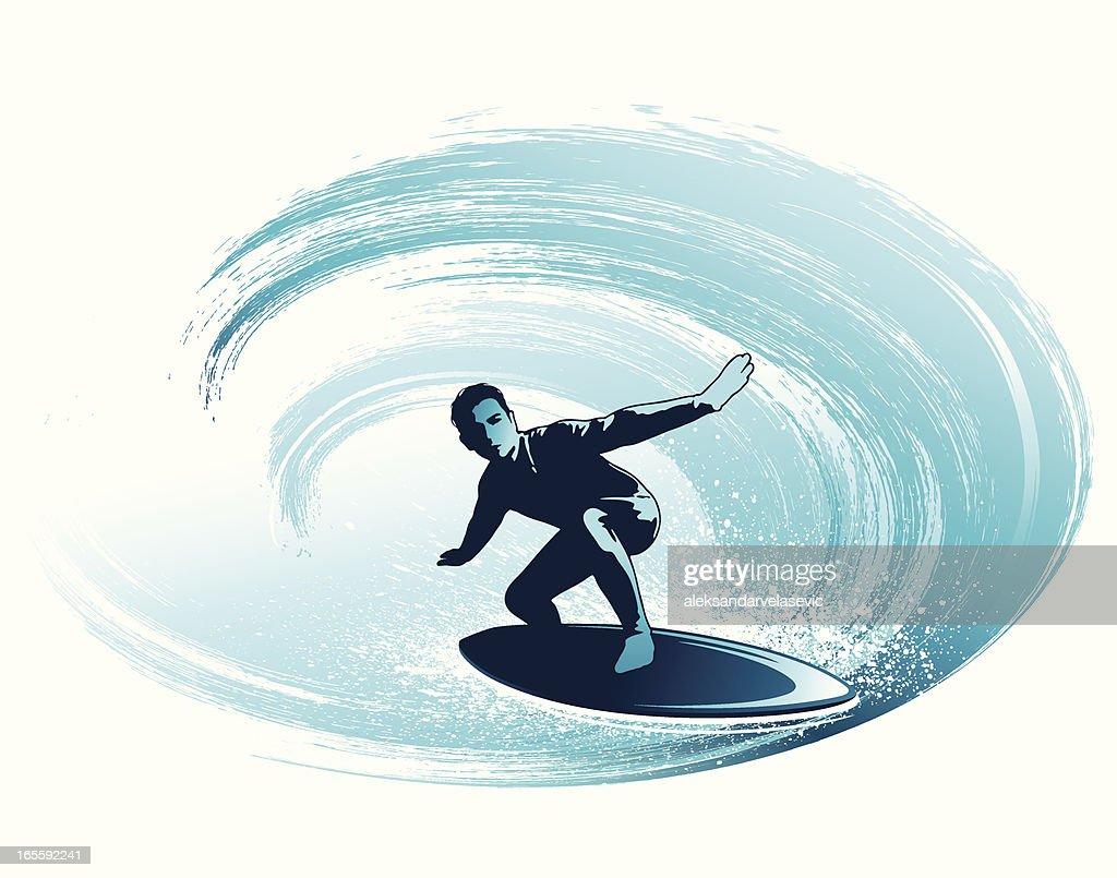 Surfing the tube : Vector Art