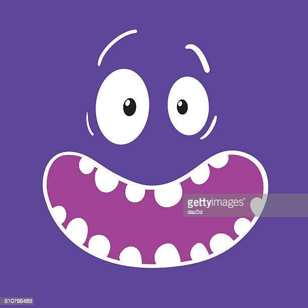 Surprised Cartoon Purple Face