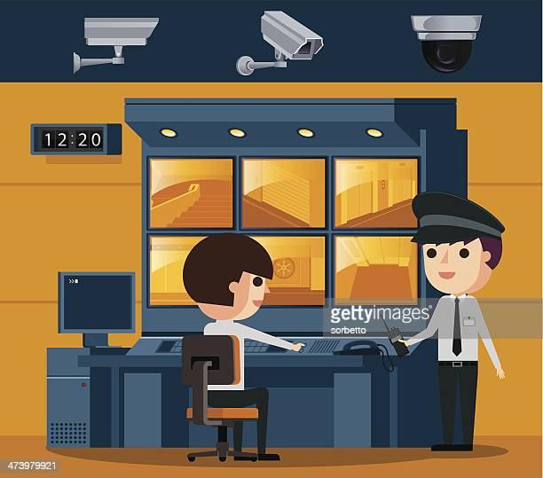 Surveillance Control Room Vector Id S X