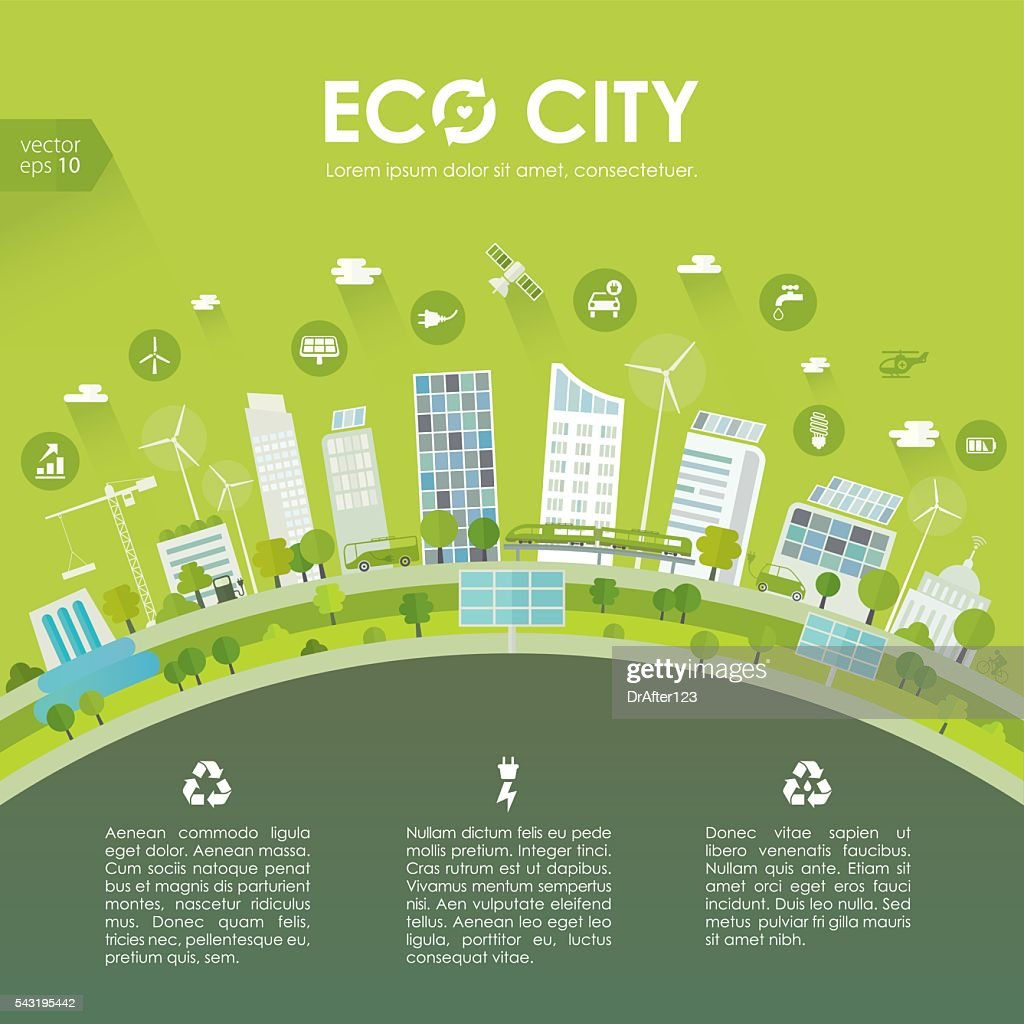 sustainable city concept vector art getty images