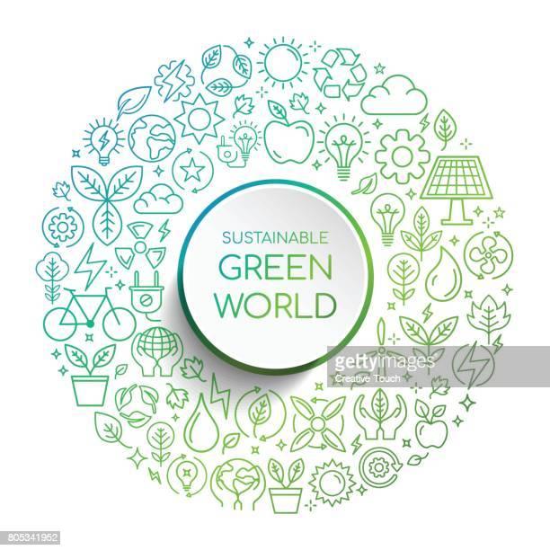 Duurzame groene wereld