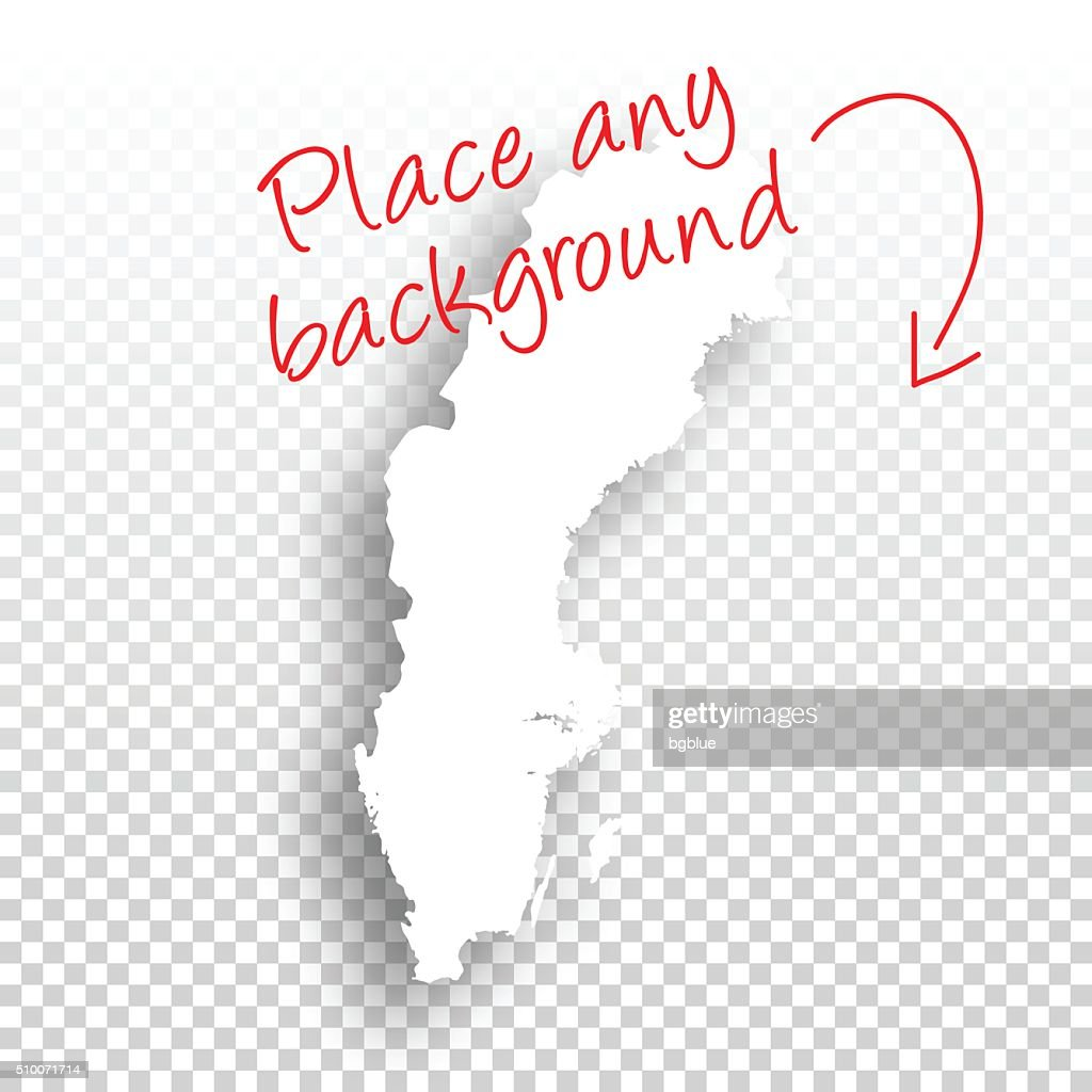Sweden Map For Design Blank Background Vector Art Getty Images - Sweden map blank