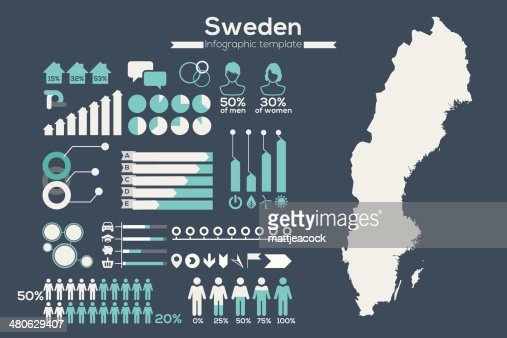 Sweden Map Infographic Vector Art Getty Images - Sweden map template
