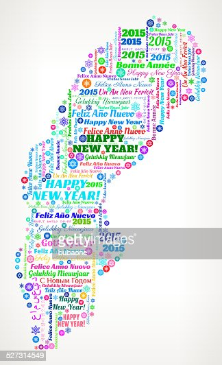 Sweden Map On International New Year Wordcloud Pattern Vector Art - Sweden new map