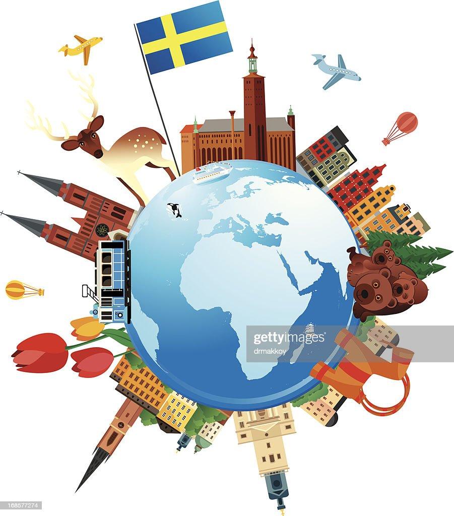 Sweden Travel : Vector Art