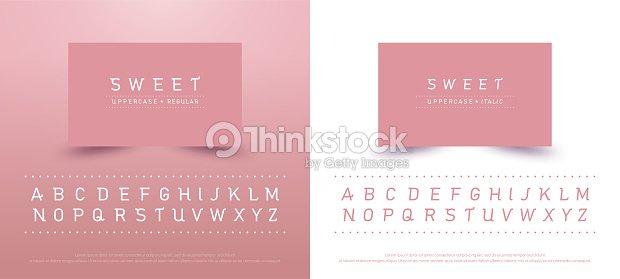 Typographie Classique Style Couleur Rose Collection De Polices Pour Logo Carte Visite Affiche Invitation Illustrator Vectoriel