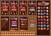 Sweet, glossy and fun, Candy and Chocolate, bubble shooter, match 3, arcade, mobile game asset