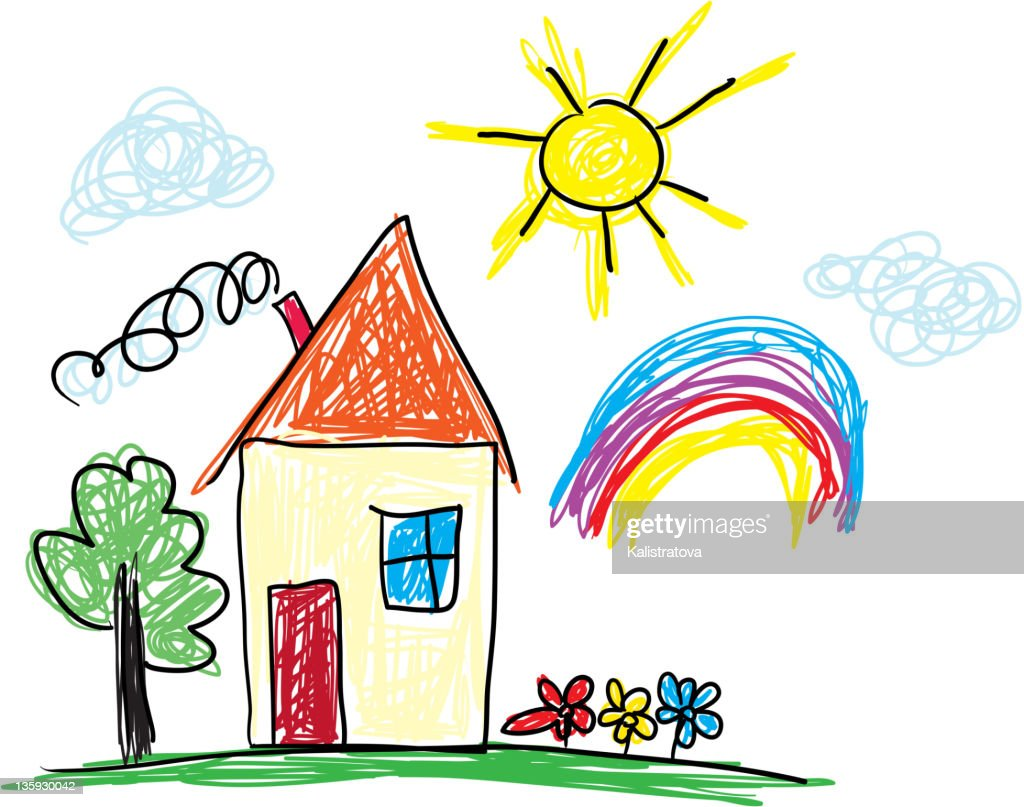 Cartoon pictures of home sweet home.