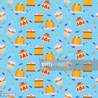 Sweets and candies seamless pattern : Vector Art