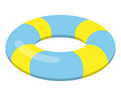 Swim ring illustration.