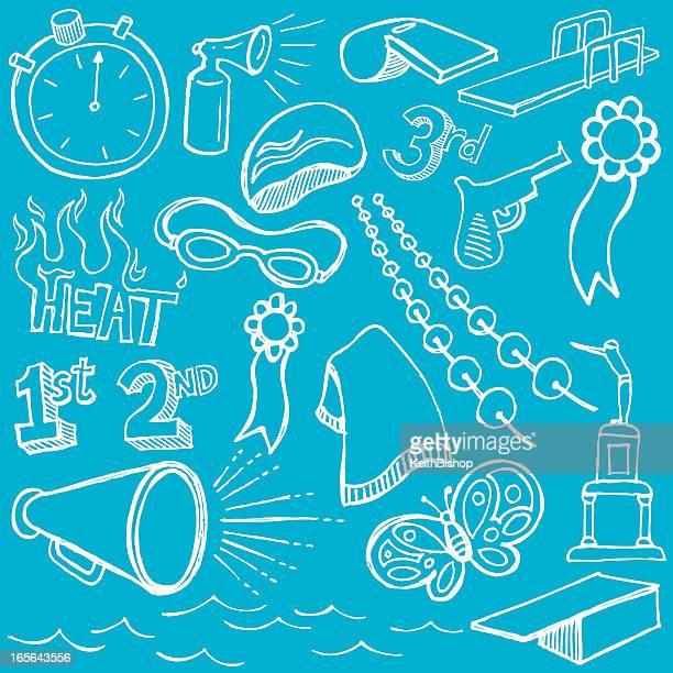 Swim Team Doodles