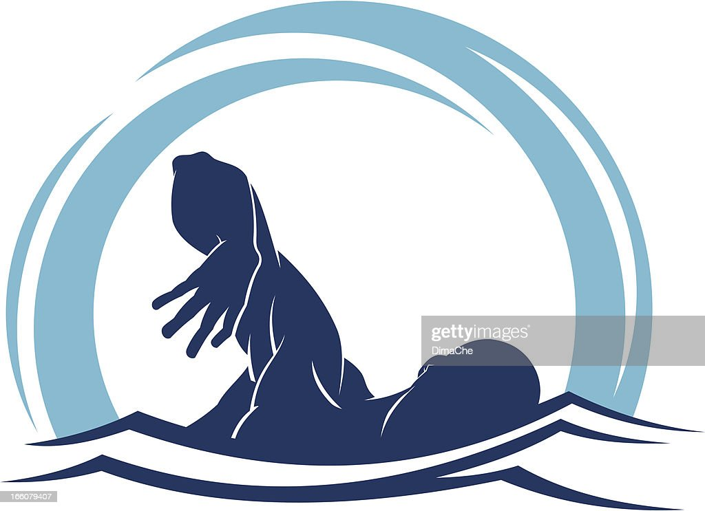 Swimmer : Vector Art