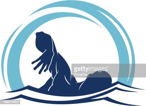 Swimmer : Vector Art