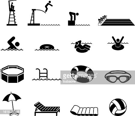Swimming Pool And Summer Fun Royalty Free Vector Icon Set Vector