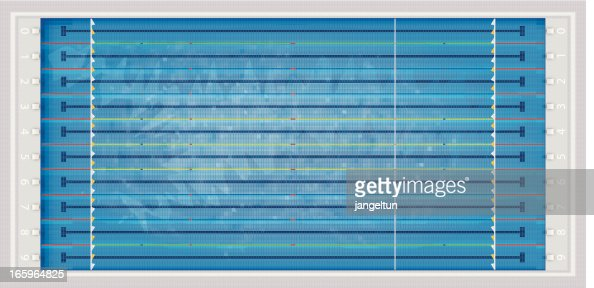 olympic swimming pool vector art getty images - Olympic Swimming Pool Top View