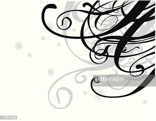 Swirl design in black and grey