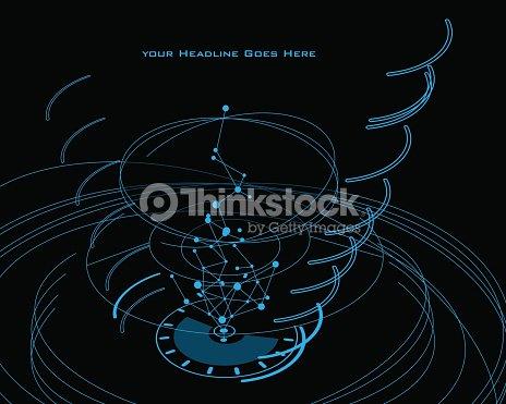 swirl design template with tron effect vector art thinkstock