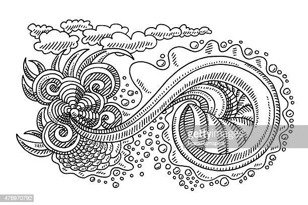 Swirl Doodle Drawing