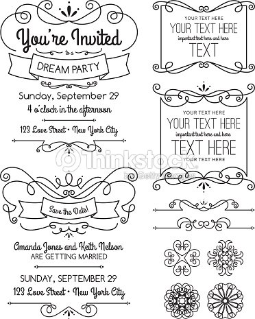 Swirl invitations and elements vector art thinkstock swirl invitations and elements vector art stopboris Images