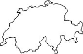 Switzerland map of black contour curves of vector illustration