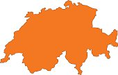 vector illustration of Switzerland map