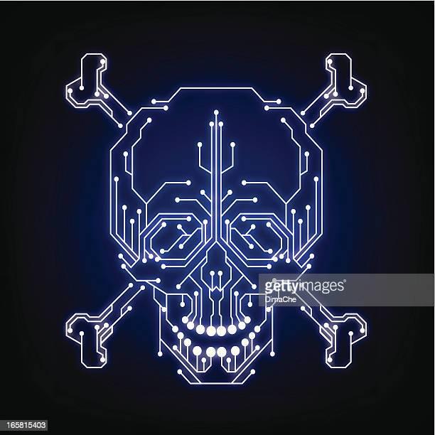 Syber piracy symbol (hacker, cracker)