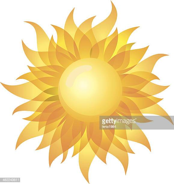 A symbol of a bright yellow sun