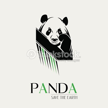 Symbol Of A Panda Over One Color Background Vector Art Thinkstock