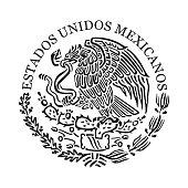 Symbol of Mexico. Black and white emblem