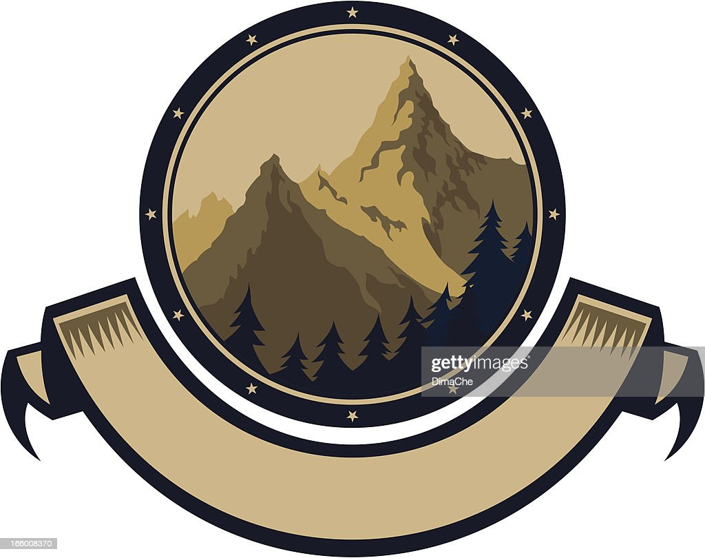 symbol of mountains : Vector Art